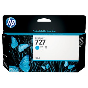 HP 727  - cartouche d'impression cyan - encre à colorants - 130ml